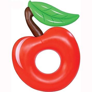 Sucastle Flotador Inflable para Piscina con Forma de Cherry,para Adultos niños Playa Fiestas de Piscina Juegos Decoraciones de salón terraza 140x100cm: ...