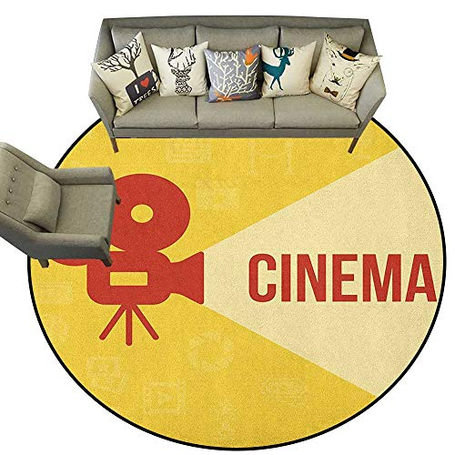 - Movie Theater,Indoor Outdoor Rugs Projector Silhouette with Cinema Quote Movie Symbols Background D54 Super Soft Carpet Floor Mat Home Decor
