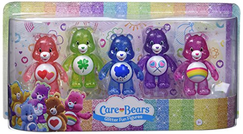 Care Bears Set - Care Bears Just Play Glitter Fun Figure Set (5 Pack)