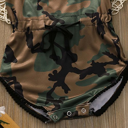Baby Boy Girls Boys Clothes Camouflage Romper Sleeveless Bodysuit Jumpsuit One-pieces +Headband Sunsuit Outfit Clothes (80 (6-12M), Camouflage)