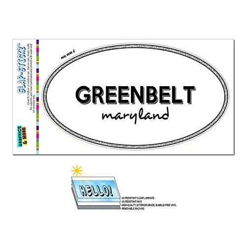 Graphics And More Euro Oval Window Bumper Laminated Sticker Maryland Md City State For   Par   Greenbelt