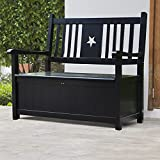 MUPATER Wood Outdoor Storage Bench Large Deck Box