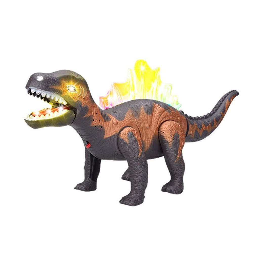 新作 Gbell 電子恐竜おもちゃ LEDライトアップ ポンピング 動く&ウォーキング ロボット 玩具 恐竜 玩具 ポンピング 口とリアルな音 女の子 子供 男の子 女の子 3歳以上 誕生日プレゼント 15.6x3.8x6.7インチ グレー B07K17MDBX, 岸本町:b0c31f3f --- realcalcados.com.br