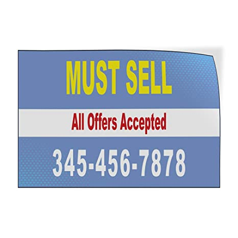 Custom Door Decals Vinyl Stickers Multiple Sizes for Lease Phone Number Company Name Business for Lease Outdoor Luggage /& Bumper Stickers for Cars Blue 69X46Inches 1 Sticker