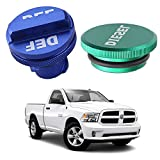 Diesel Fuel Cap for Dodge Ram 1500 2500 3500 4500 5500 diesel Trucks with Blue DEF Cap