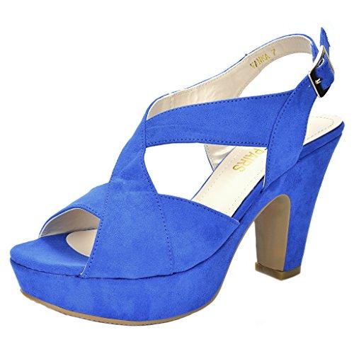 Blue Mid Heel - 1