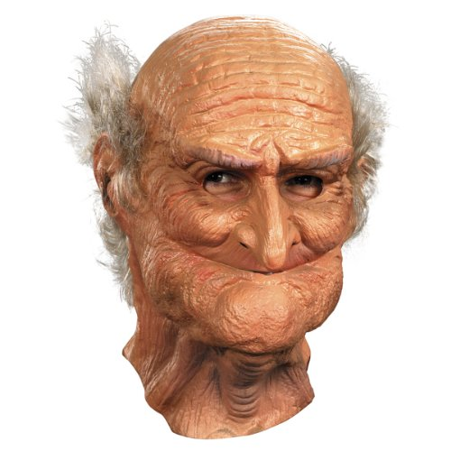 Halloween Old Mask (Disguise Men's Male Oldie Costume Mask, Beige/White,)