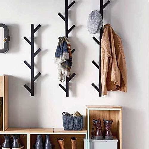 Modern Style Wall Mounted 11 Hangers Hooks Key Holder Coat Hat Storage Rack