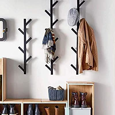 PremiumRacks Coat Rack & Hat Rack – Modern Design – Wall Mounted – Stylish – Durable - MODERN DESIGN- Perfect solution for organizing hats, coats, jackets, baseball caps, scarfs, and dog leashes in your entranceway, bedroom or closet. WALL MOUNTED- Take advantage of the wall space in your home. Make your house less cluttered and more efficient. HIGH QUALITY- This coat rack & hat rack maintains its shape over the long haul. - entryway-furniture-decor, entryway-laundry-room, coat-racks - 51LG8iIV0AL. SS400  -
