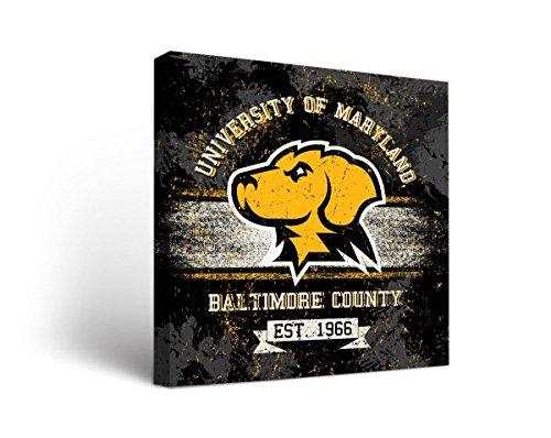 Maryland Baltimore UMBC Retrievers Canvas Wall Art Banner Version (Canvas Retriever)