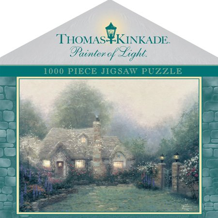 - Thomas Kinkade Anniversary House Box - Evening At Merritt'S Cottage 1000pc