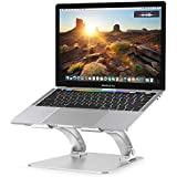 """Nulaxy Laptop Stand, Ergonomic Height Angle Adjustable Computer Laptop Holder Compatible with MacBook, Air, Pro, Dell XPS, Samsung, Alienware All Laptops 10-17.3"""", Supports Up to 44 Lbs-Silver"""