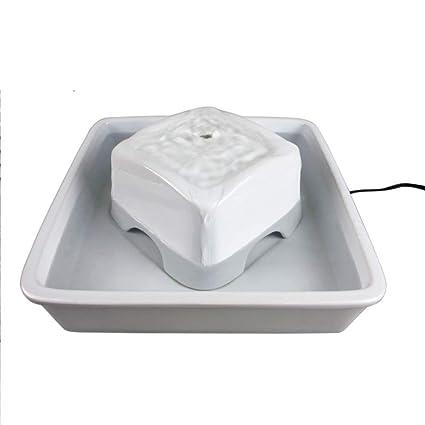 Filtro De Circulación Alimentador De Agua De Cerámica Cuadrado Cat Dispensador De Agua Automático De Mascotas
