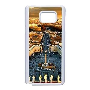 Nota 5 caso del teléfono celular de Funda Samsung Galaxy funda blanca de Barcelona B4C2FI