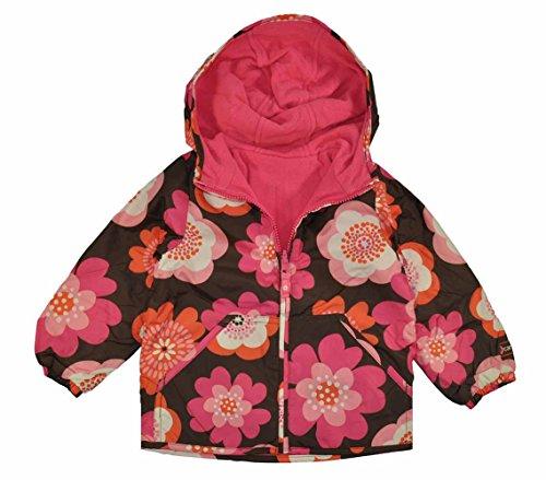Carter's Baby Girls Brown & Pink Floral Reversible Fleece Lined Jacket (24M)