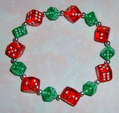 Christmas Dice Game (Christmas Dice Bracelet for Bunco or Casino Fans)