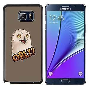 TECHCASE---Cubierta de la caja de protección para la piel dura ** Samsung Galaxy Note 5 ** --Pintura del arte divertido de Big Eyes Aves