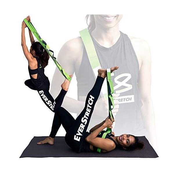 EverStretch Non-Elastic Cinghia Yoga Non Elastica ad Anelli - Cintura ad Anelli, Fascia per Stretching con Passanti… 4 spesavip