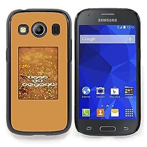 """For Samsung Galaxy Ace Style LTE/ G357 Case , Cartel Amor Marrón motivación texto"""" - Diseño Patrón Teléfono Caso Cubierta Case Bumper Duro Protección Case Cover Funda"""