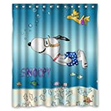 Fhddk HYGLQH Snoopy in the Sea Shower Curtain, Custom Waterproof WL HYSCU041