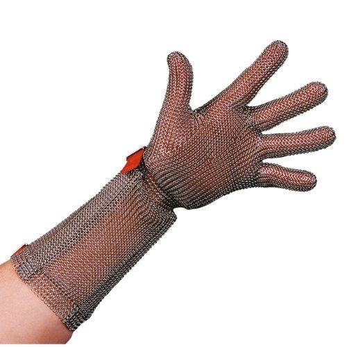 Stahlnetz Stechschutzhandschuh PROTEC 8 cm Stulpe, EN 1062, Größe L