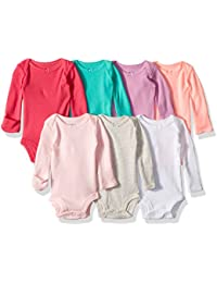 Baby Girls' 7-Pack Long-Sleeve Bodysuits