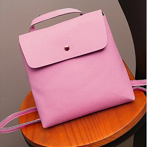 Womens Satchel Bag Fashion Bags Purse Pink School Leather Rucksack Travel Backpack Inkach gZqH66