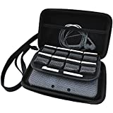 Technoskin - Compact Travel Carrying Case for NEW 3DS or NEW 3DS XL - Black - 8 Game Holders - Hard Cover - Mesh Accessory Pouch - Carrying Strap - Lifetime Guarantee