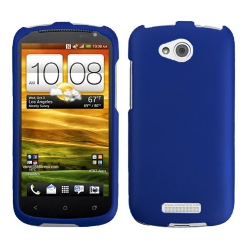 Asmyna HTCONEVXHPCSO203NP Titanium Premium Durable Rubberized Protective Case for HTC One VX - 1 Pack - Retail Packaging - Dark Blue