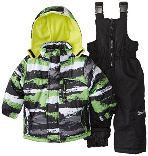 Big Chill Baby Boys' Camo Stripe Snowsuit, Black, 24 Months