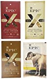 Epic Mix Hunter Gatherer Variety Pack of 4, 1-Organic Beef Jerky with Mountain Medley 3oz,1-Organic Beef Jerky with Harvest Nuts 3oz.,1-Organic Beef Jerky with Berry Blossom 3oz.,1-Organic Beef Jerky with Toasted Coconut 2.5 oz.