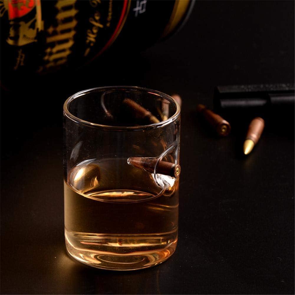Newideax Bullet Verre /à Whisky Personnalis/é de Haut Borosilicate Verre /à Vin pour P/ère Mari