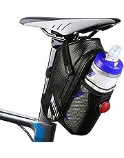 otumixx Borsa della Sella per Bicicletta Impermeabile Borsa da Sella con Tasca Porta-borraccia Borsa sottosella per Ciclismo/MTB/BICI