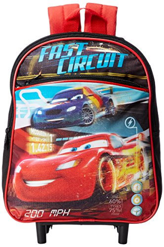 Disney Boys' Cars 12 Inch Rolling Backpack, Black, One Size
