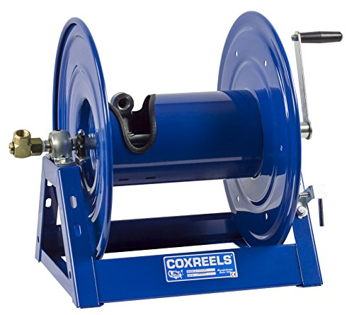 Coxreels 1125-4-100 Steel Hand Crank Hose Reel, 1/2'' Hose I.D., 100' Hose Capacity, 3,000 PSI, without Hose, Made in USA by Coxreels