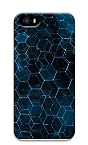 Case For Sam Sung Galaxy S4 I9500 Cover Blue Hex 3D Custom Case For Sam Sung Galaxy S4 I9500 Cover
