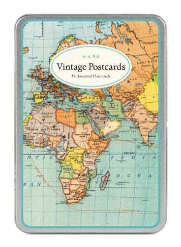 Cavallini & Co. Vintage World Maps Carte Postale ()