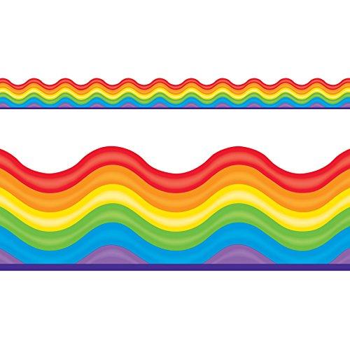(TREND enterprises, Inc. T-92703BN Rainbow Promise Terrific Trimmers, 39' Per Pack, 12 Packs)
