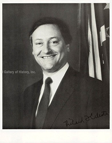 Governor Richard Frank Celeste Photograph Signed