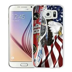 Newest Samsung Galaxy S6 Case ,Jimmie Johnson NASCAR (2) White Samsung Galaxy S6 Cover Case Hot Sale And Popular Designed Phone Case