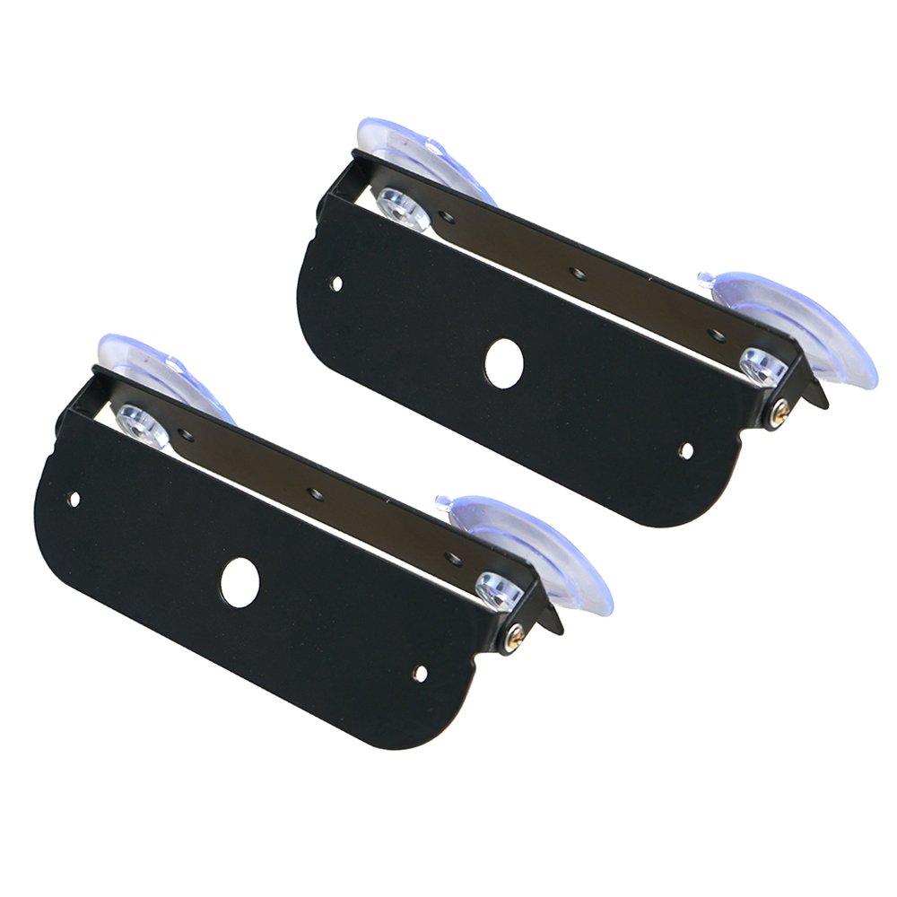 2 Pack Xprite Light Holder Adjustable Bracket For 4 LED 4 Watt Emergency Vehicle Waterproof Surface Mount Deck Dash Grille Strobe Light Warning Police Light Head