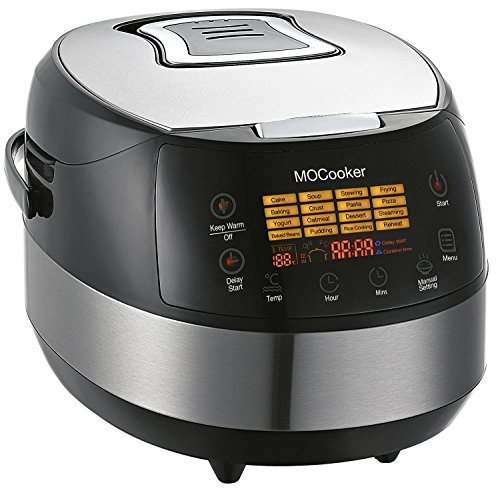 Slow Cooker 6 Quart Size w/ Heating & 16 - 1 Preset Functions - Advanced 3D Dynamic Heating - Quick Reheat - 24 Hour Delay Timer - Auto Keep Warm - Accessories Incl Slow Cooker Recipes (Utensil Crock Owl)