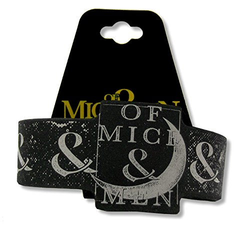 Bravado Adult Of Mice & Men Moon Black Silicone Wristband (Of Mice And Men Merchandise)