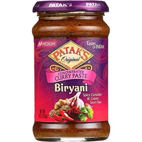 Pataks Curry Paste - Concentrated - Biryani - Medium - 10 oz - case of 6 - - - - - -