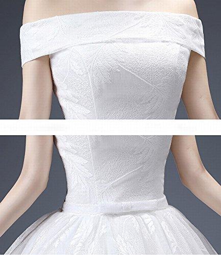 Sposa Monospalla Homee Matrimonio Da Stomacher Size Abito m bianca Plus qEE5wH