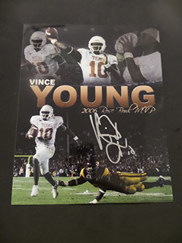 Vince Young Signed Texas Longhorns Autographed 8x10 Photograph
