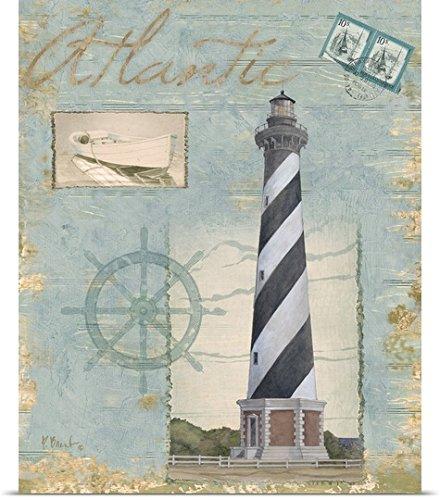 Paul Brent Poster Print Entitled Seacoast Lighthouse I