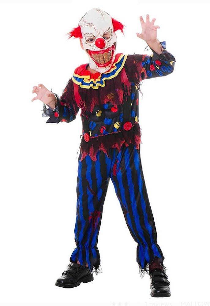 UNK Scary Clown 子供用ハロウィンジャンプスーツ。 L 10~12。   B07H726XM1