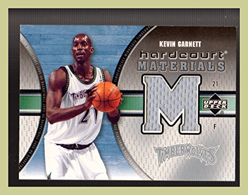 2005-06 Upper Deck Hardcourt Materials #KG Kevin Garnett GAME USED SHOOTING SHIRT MINNESOTA TIMBERWOLVES (ast)