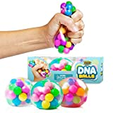 DNA Stress Balls - 3 Pack - Squeezing Stress Relief Ball - for Kids and Adults- Stress Squishy Toys for Autism, ADHD, Bad Habits and More - Risk-Free Sensory Rubber Ball
